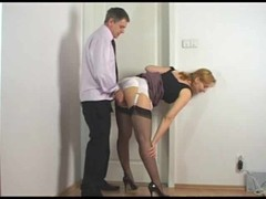 Guy rubbing against secretary satin panties Thumb