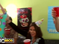 BANGBROS - Dorm Invasion Surprise Party With Diamond Kitty, Jynx Maze, and Jada Stevens Thumb